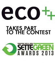 eco++ TAKES PART TO THE SETTE GREEN AWARDS 2013 COMPETITION